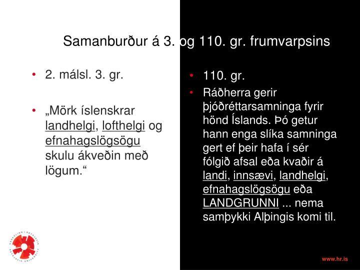 Samanburður á 3.