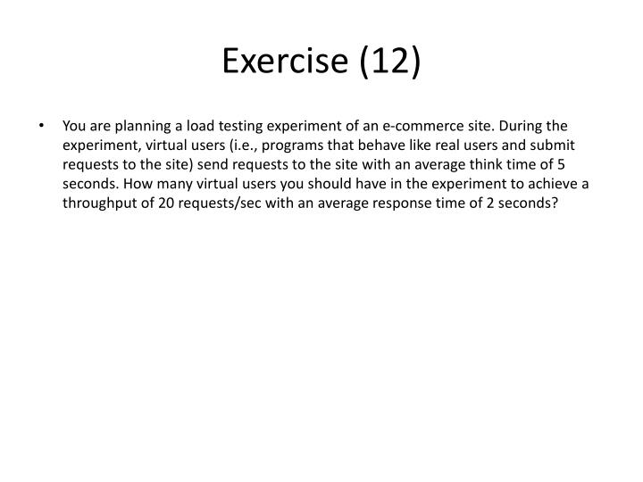 Exercise (12)