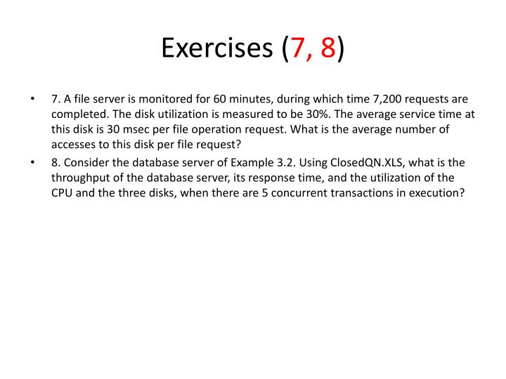 Exercises (