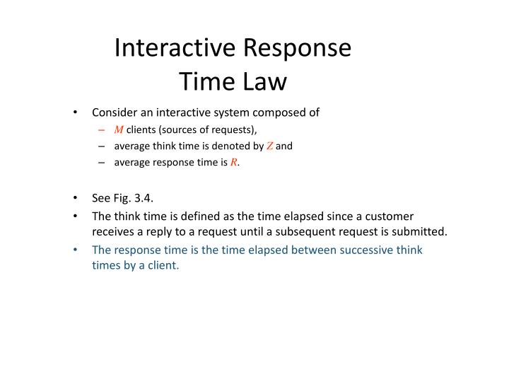 Interactive Response Time Law