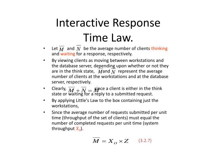 Interactive Response Time Law.