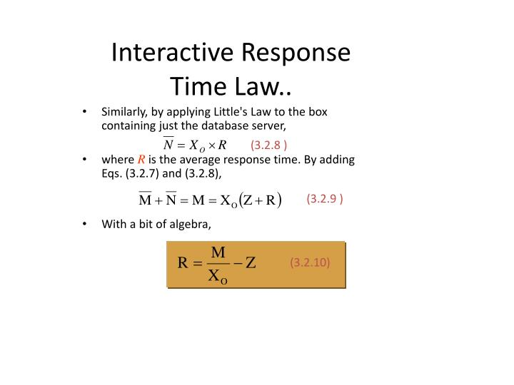 Interactive Response Time Law..