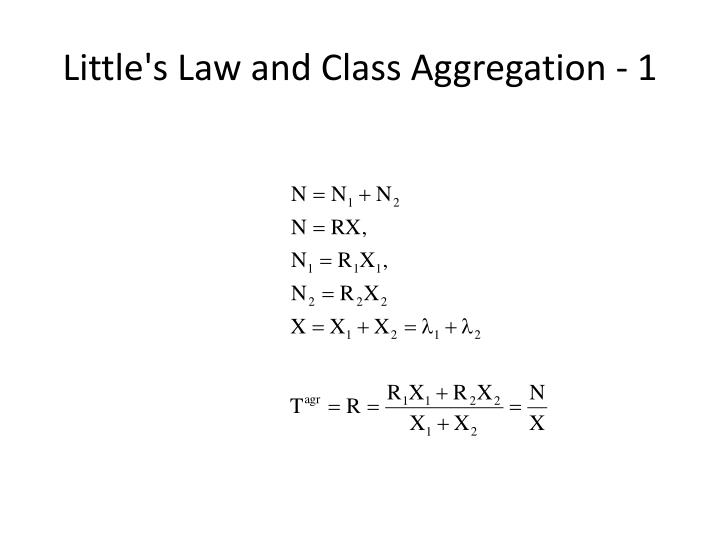 Little's Law and Class Aggregation - 1