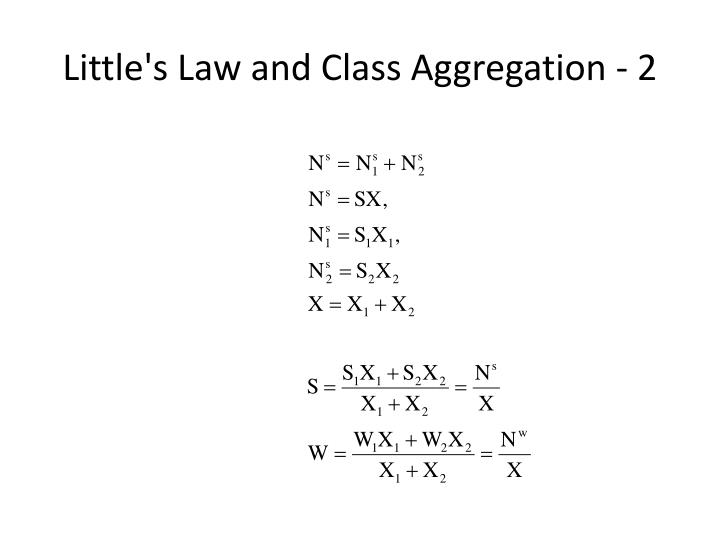 Little's Law and Class Aggregation - 2