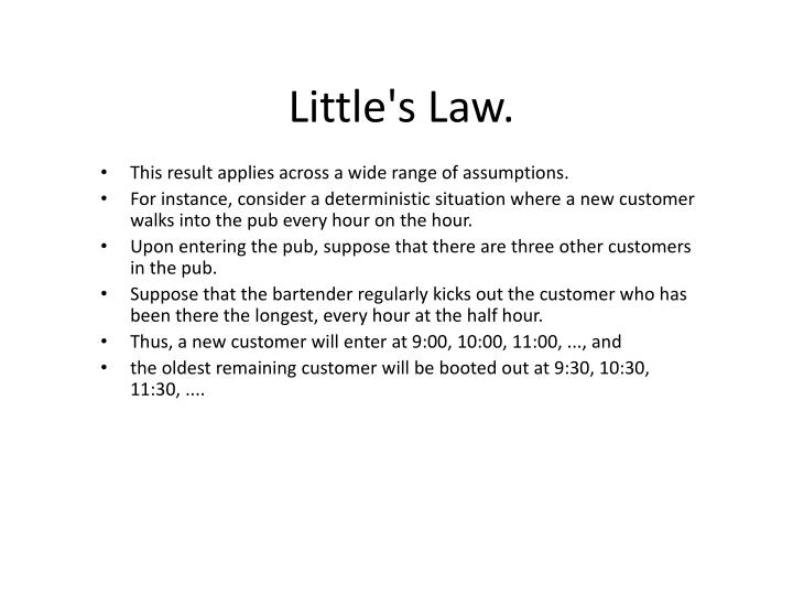 Little's Law.