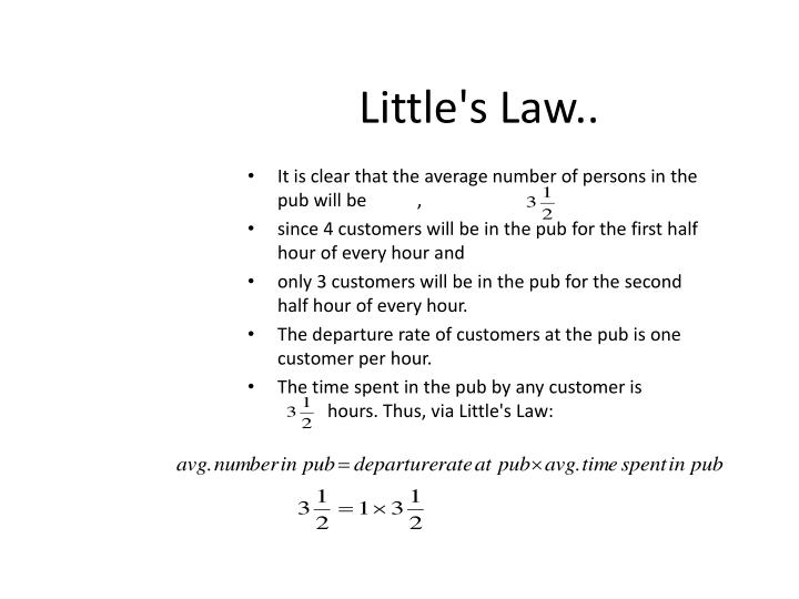 Little's Law..