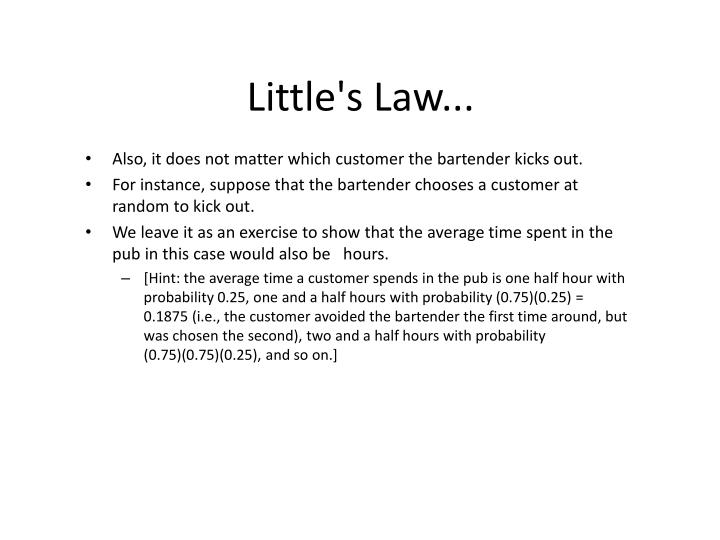 Little's Law...