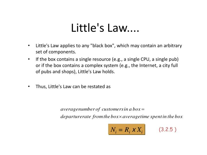 Little's Law....