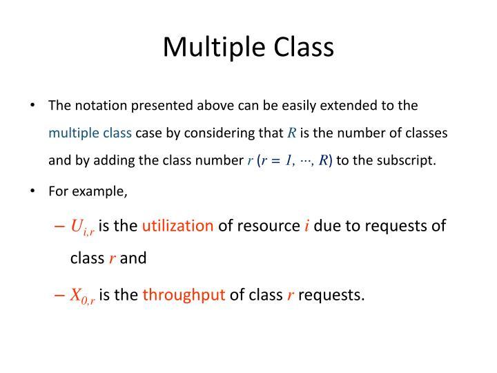 Multiple Class