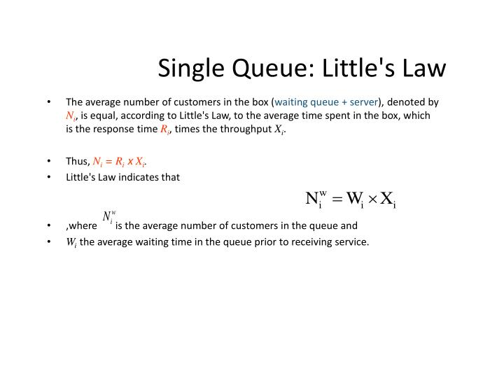 Single Queue: Little's Law