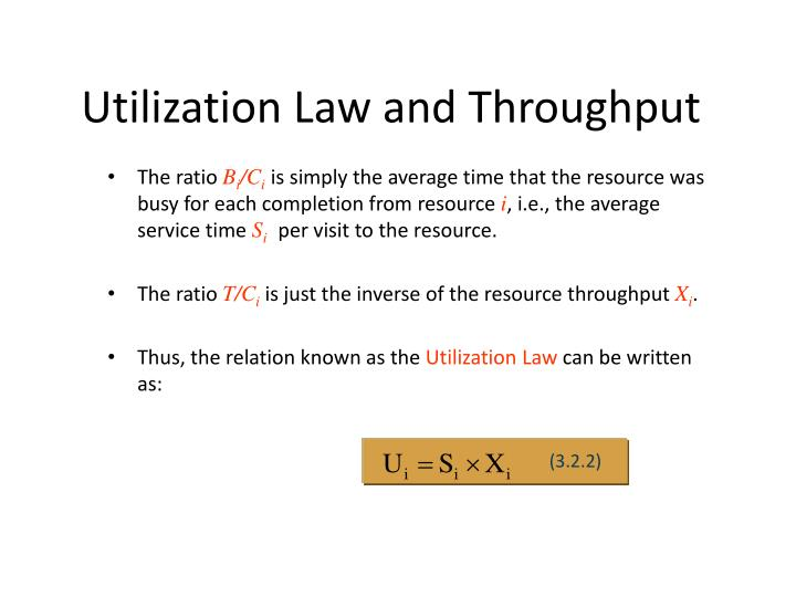 Utilization Law and Throughput