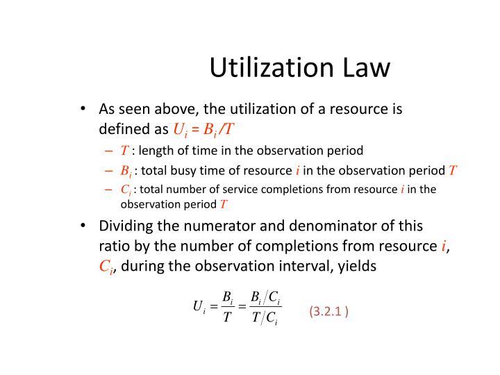 Utilization Law
