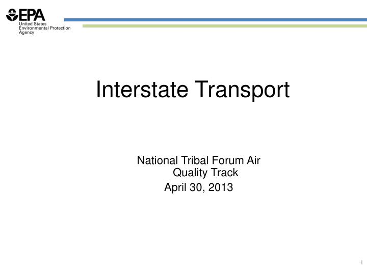 Interstate Transport