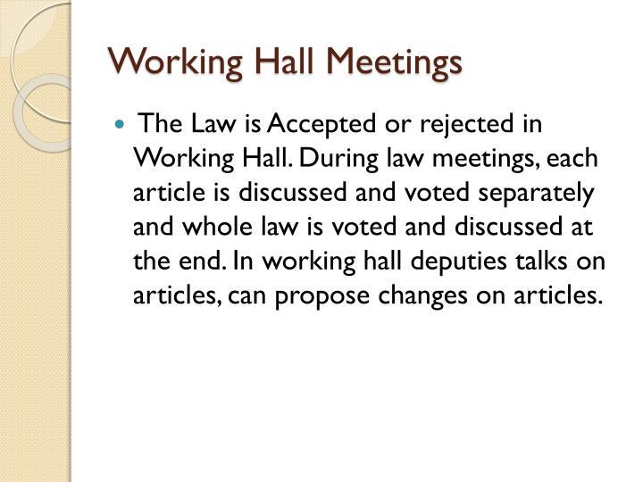 Working Hall Meetings