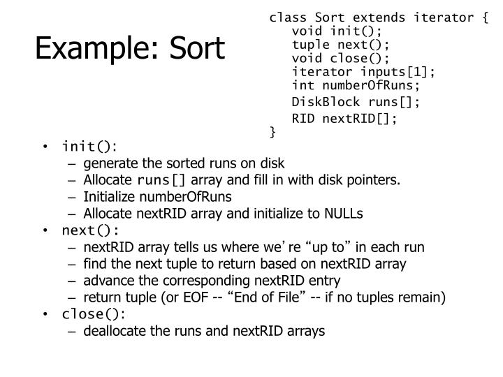 class Sort extends iterator {