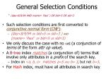 general selection conditions