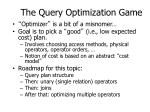 the query optimization game