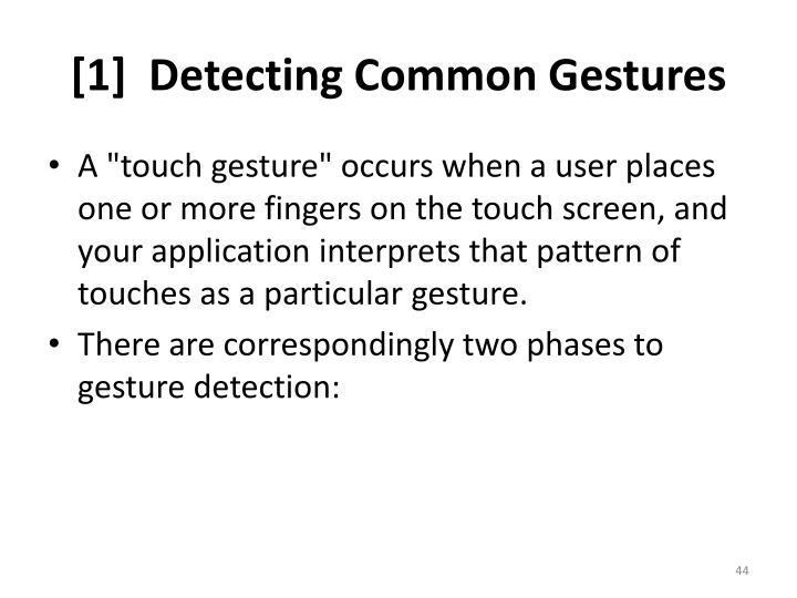 [1]  Detecting