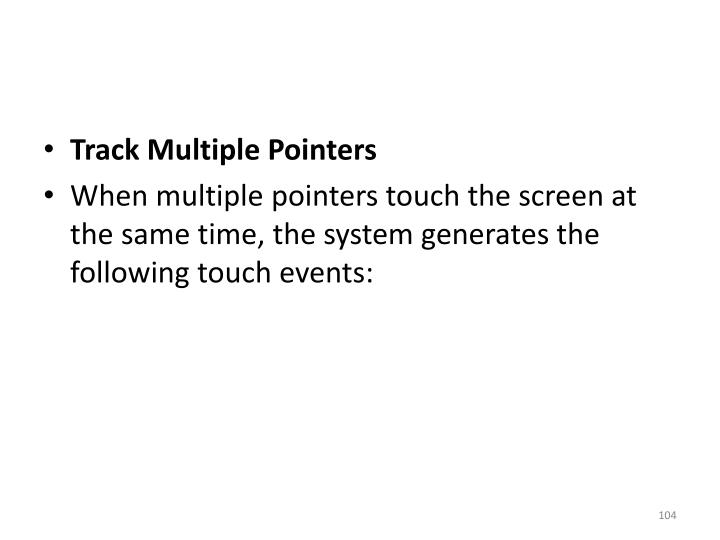 Track Multiple Pointers