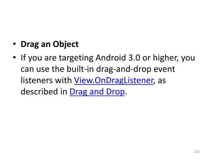 Drag an Object