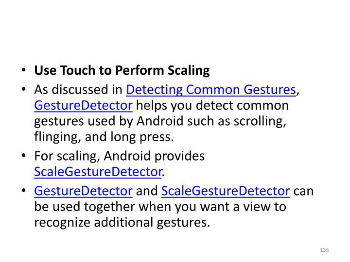 Use Touch to Perform Scaling