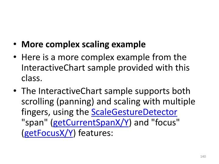 More complex scaling example