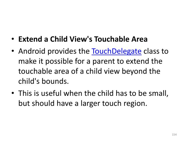 Extend a Child View's Touchable Area