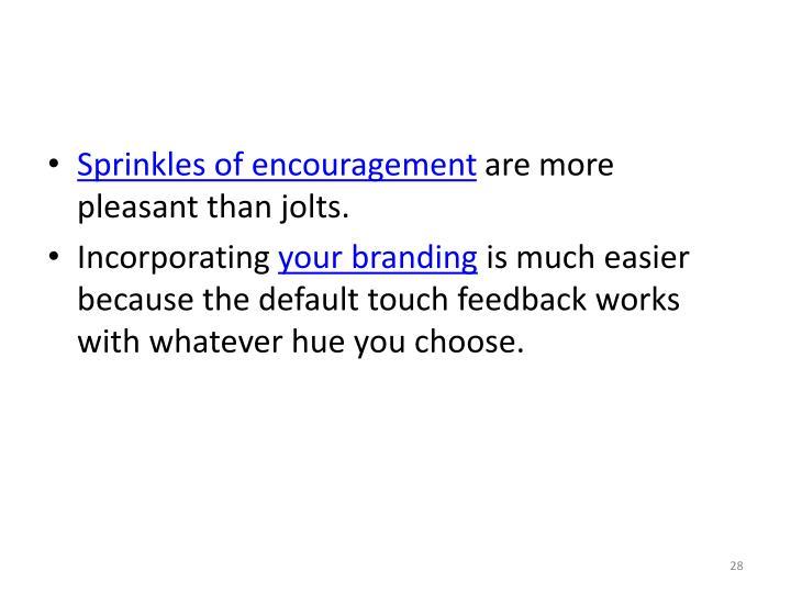 Sprinkles of encouragement