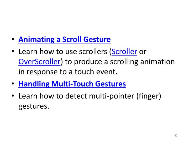Animating a Scroll Gesture