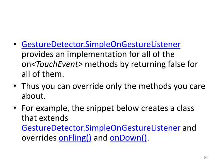 GestureDetector.SimpleOnGestureListener