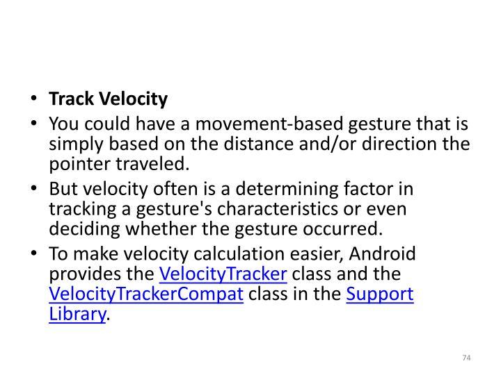 Track Velocity