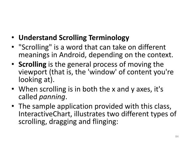 Understand Scrolling Terminology