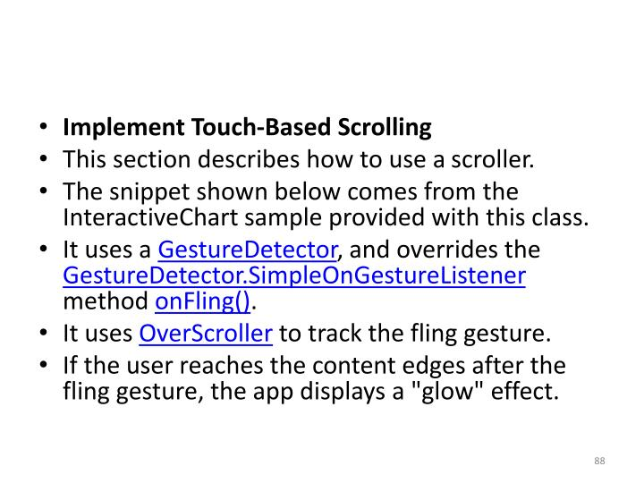 Implement Touch-Based Scrolling