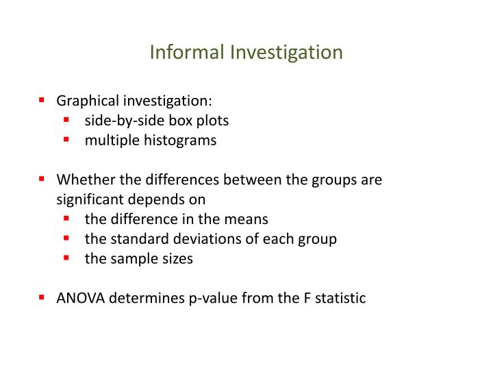 Informal Investigation