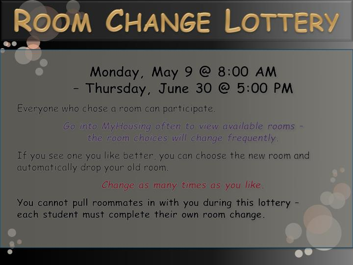 Room Change Lottery