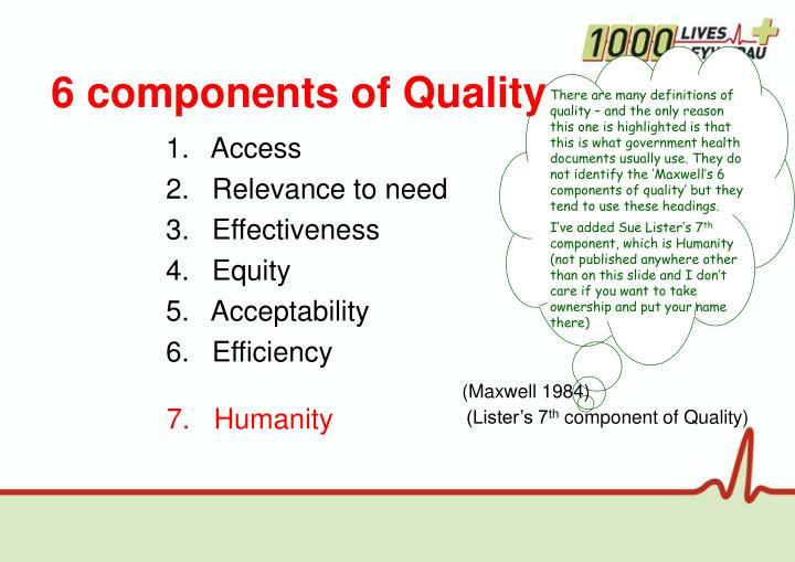 6 components of Quality