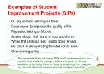 examples of student i mprovement projects sips