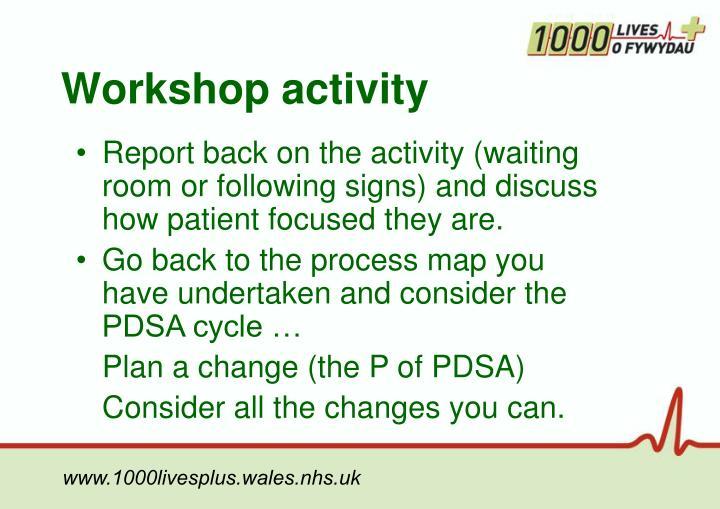 Workshop activity
