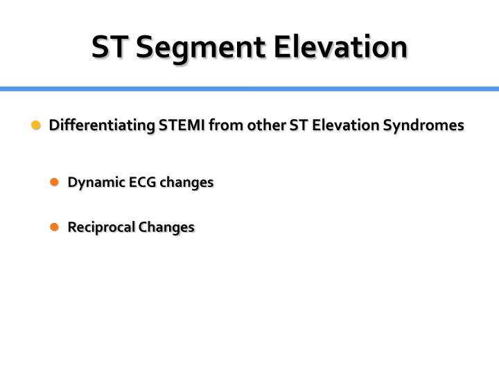 ST Segment Elevation