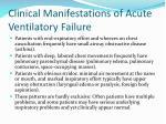 clinical manifestations of acute ventilatory failure2