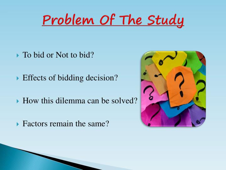 Problem of the study