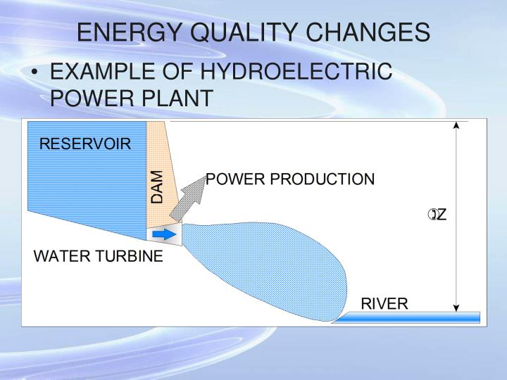 ENERGY QUALITY CHANGES