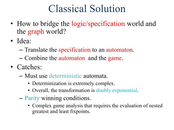 Classical Solution