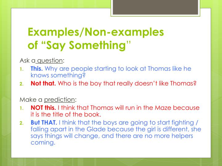 Examples/Non-examples