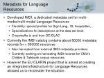 metadata for language resources1