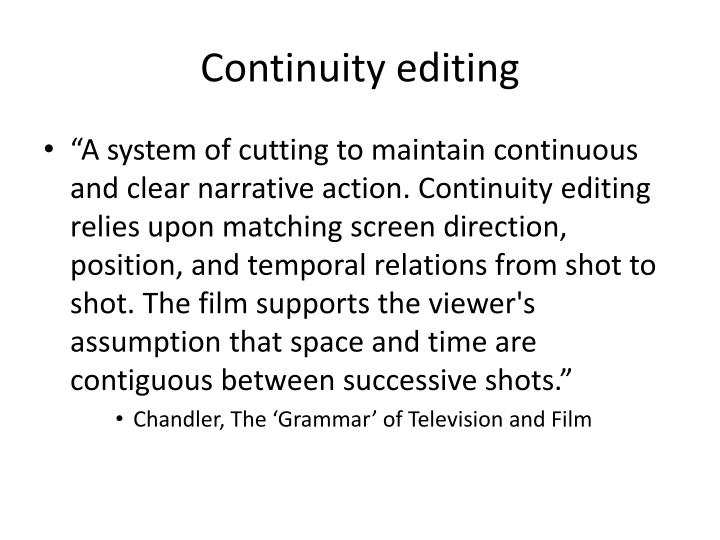 Continuity editing