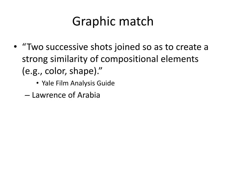 Graphic match