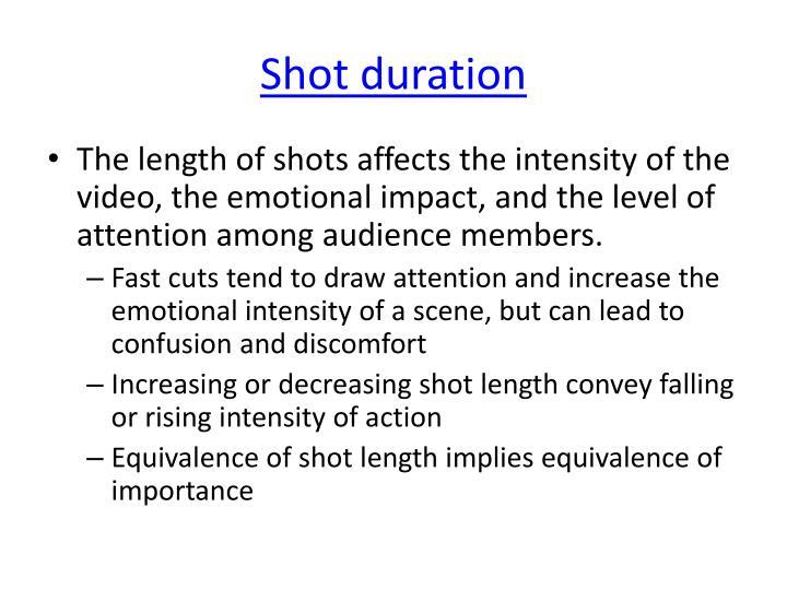 Shot duration