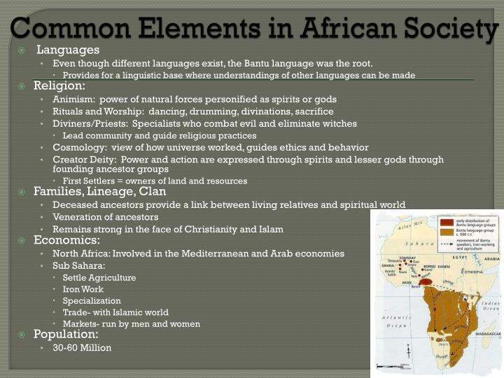 Common Elements in African Society