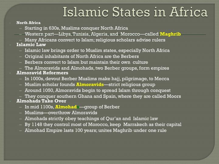 Islamic States in Africa